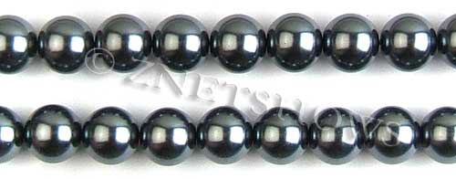 Glass Pearls <b>12mm</b> Round dark gray K301   per <b>15.5-in-str</b>