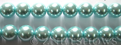 Glass Pearls <b>12mm</b> Round Light Tender Blue Color K0531   per <b>15.5-in-str</b>