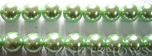 Glass Pearls <b>12mm</b> Round Light Vivid Green Color K0542   per <b>15.5-in-str</b>