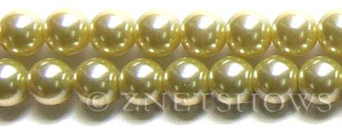 Glass Pearls <b>14mm</b> Round butter Color K121   per <b>15.5-in-str</b>