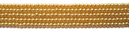 Glass Pearls <b>3mm</b> Round Champagne K1120(15.5-in-str)    per <b>5-str-hank</b>
