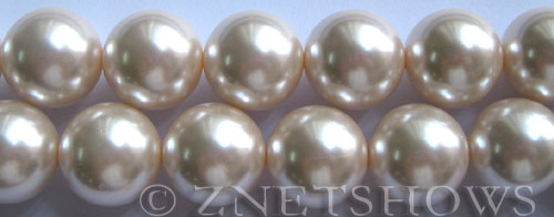 Glass Pearls <b>16mm</b> Round baby pink Color K165   per <b>15.5-in-str</b>