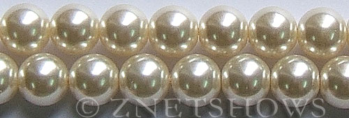 Glass Pearls <b>16mm</b> Round off white K822   per <b>15.5-in-str</b>
