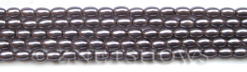 Glass Pearls <b>6x4mm</b> Rice Amethyst K1168(15.5-in-str)   per <b>5-str-bag</b>