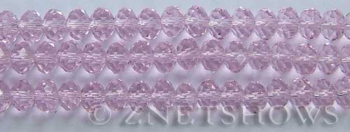Tiaria Glass Crystal 06-Blossom Pink rondelle Beads <b>8x5mm</b> faceted     per   <b> 10-str-hank</b>