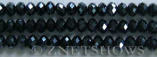 Tiaria Glass Crystal 100-Hematite rondelle Beads <b>8x5mm</b> faceted     per   <b> 10-str-hank</b>