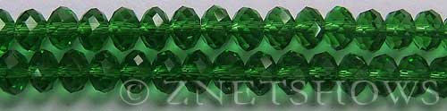 Tiaria Glass Crystal 25-Shamrock rondelle Beads <b>8x5mm</b> faceted     per   <b> 10-str-hank</b>