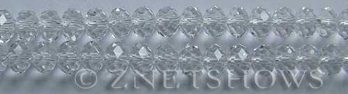 Tiaria Glass Crystal 01-Crystal rondelle Beads <b>8x5mm</b> faceted     per   <b> 10-str-hank</b>
