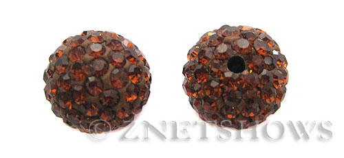 Tiaria Glass Crystal 18-Mocha bling ball Beads <b>12mm</b>    per   <b> 2-pc-bag</b>
