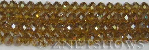 Tiaria Glass Crystal 16AB-Desert Gold AB rondelle Beads <b>8x5mm</b> faceted     per   <b> 10-str-hank</b>