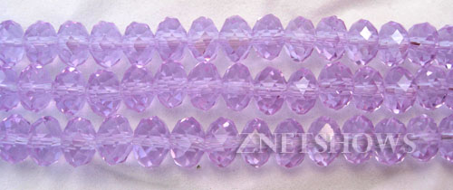 Tiaria Glass Crystal 39-Periwinkle Changes rondelle Beads <b>8x5mm</b> faceted     per   <b> 10-str-hank</b>