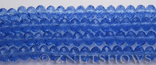 Tiaria Glass Crystal 76-Dark Sky Blue rondelle Beads <b>8x5mm</b> faceted     per   <b> 10-str-hank</b>