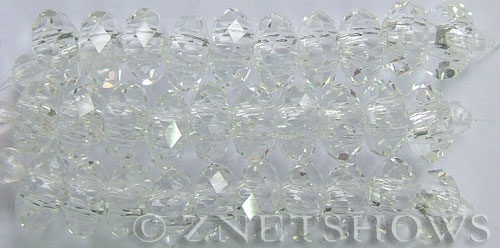 Tiaria Glass Crystal 01-Crystal rondelle Beads <b>14x10mm</b> faceted 5mm large hole    per   <b> 10-pc-str</b>