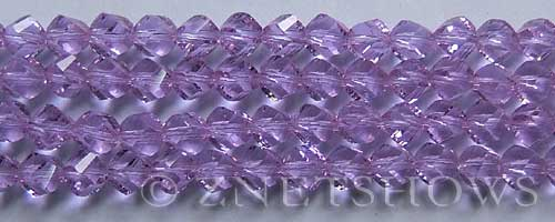 Tiaria Glass Crystal 39-Periwinkle Changes twist Beads <b>8mm</b> faceted     per   <b> 8-in-str  (27-pc-str)</b>