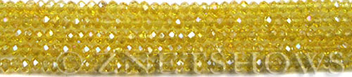 Tiaria Glass Crystal 84AB-Lemon AB rondelle Beads <b>4x3mm </b> faceted     per   <b> 10-str-hank  (50-pc-str)  </b>