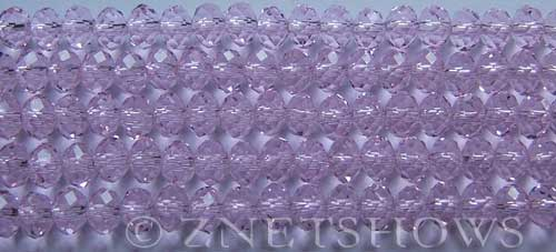 Tiaria Glass Crystal 06-Blossom Pink rondelle Beads <b>6x4mm</b> faceted     per   <b> 10-str-hank (50-pc-str)</b>