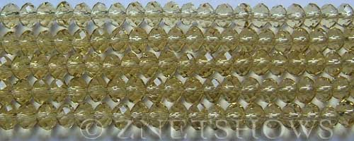 Tiaria Glass Crystal 10-Sunglow rondelle Beads <b>6x4mm</b> faceted     per   <b> 10-str-hank (50-pc-str)</b>