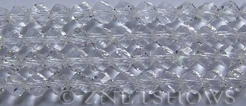 Tiaria Glass Crystal 01-Crystal twist Beads <b>10mm</b> faceted     per   <b> 20-pc-str</b>
