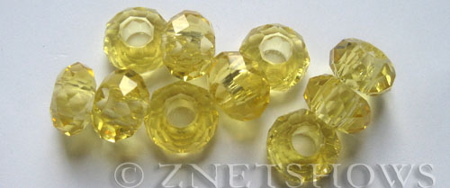 Tiaria Glass Crystal 10-Sunglow rondelle Beads <b>14x8mm</b> faceted 5mm large hole    per   <b> 10-pc-bag</b>