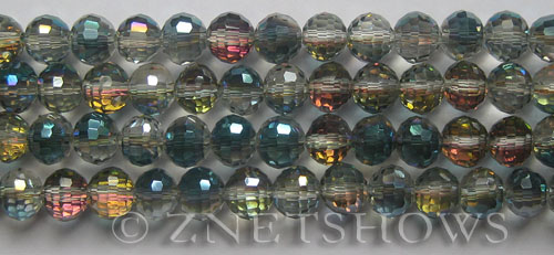Tiaria Glass Crystal 120-Sahara Green round Beads <b>8mm</b> faceted  <b> (96 Facets, only $1.15 per strand )</b>    per   <b> 10-str-hank (27-pc-str)</b>