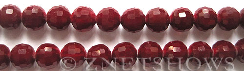 Tiaria Glass Crystal 49-Ruby Red round Beads <b>10mm</b> faceted     per   <b> 8-in-str (24-pc-str)</b>