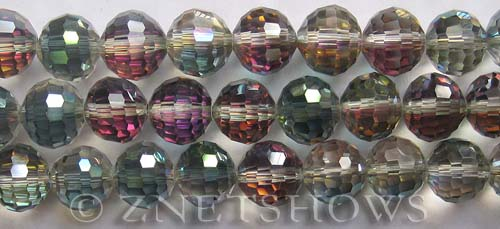 Tiaria Glass Crystal 120-Sahara Green round Beads <b>12mm</b> faceted     per   <b> 8-in-strand (20-pc-str)</b>