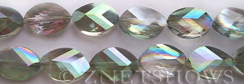 Tiaria Glass Crystal 120-Sahara Green marquise spindle Beads <b>18x13mm</b> faceted     per   <b> 10-pc-str</b>