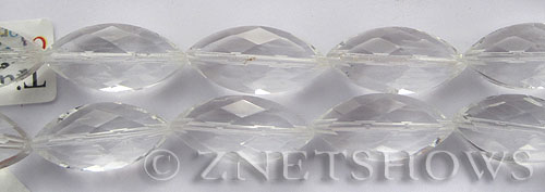 Tiaria Glass Crystal 01-Crystal marquise spindle Beads <b>26x12mm</b> faceted     per   <b> 7-pc-str</b>