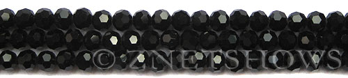 Tiaria Glass Crystal 02-Jet Black round Beads <b>6mm</b> faceted     per   <b> 10-str-hank (37-pc-str)</b>
