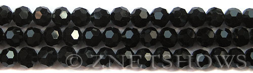 Tiaria Glass Crystal 02-Jet Black round Beads <b>8mm</b> faceted     per   <b> 10-str-hank (27-pc-str)</b>