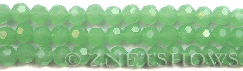 Tiaria Glass Crystal 44-Opaque Spring Green round Beads <b>8mm</b> faceted     per   <b> 10-str-hank (27-pc-str)</b>