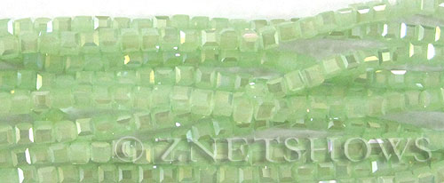 Tiaria Glass Crystal 43AB-Opaque Seafoam Green AB cube Beads <b>4mm</b> faceted     per   <b> 10-str-hank (50-pc-str)</b>