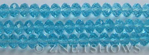 Tiaria Glass Crystal 28-Turquoise Bay rondelle Beads <b>8x5mm</b> faceted     per   <b> 8-in-str</b>