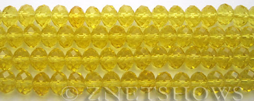 Tiaria Glass Crystal 84-Lemon rondelle Beads <b>8x5mm</b> faceted     per   <b> 8-in-str</b>