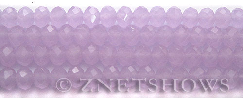 Tiaria Glass Crystal 85-Opaque Periwinkle rondelle Beads <b>8x5mm</b> faceted     per   <b> 8-in-str</b>