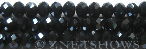 Tiaria Glass Crystal 100-Hematite rondelle Beads <b>10x8mm</b> faceted     per   <b> 8-in-str (26-pc-str)</b>