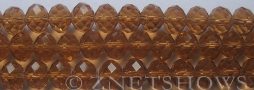 Tiaria Glass Crystal 17-Amber rondelle Beads <b>10x8mm</b> faceted     per   <b> 8-in-str (26-pc-str)</b>