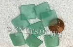 Cultured Sea Glass concave small square Pendants  <b>19x16mm</b> 89-Autumn Green    per  <b>8-pc-bag</b>