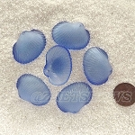 Cultured Sea Glass sea shell Pendants <b>31x22mm</b> 31-Light Sapphire per <b>6-pc-bag</b>