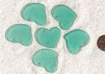 Cultured Sea Glass Large Fancy Flat Heart Pendants <b>30x30mm</b> 89-Autumn Green per <b>6-pc-bag</b>