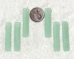 Cultured Sea Glass Large Elongated Puffed Rectangle Pendants <b>8x38mm</b> 892-Opaque Seafoam Green per <b>6-pc-bag</b>