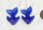 Cultured Sea Glass Whale Tail Splash Pendants <b>35x24mm</b> 33-Royal Blue per <b>2-pc-bag</b>