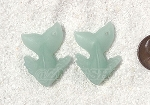 Cultured Sea Glass Whale Tail Splash Pendants <b>35x24mm</b> 892-Opaque Seafoam Green per <b>2-pc-bag</b>