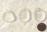 Cultured Sea Glass large pebble for engraving Pendants <b>varied</b> 01-Crystal per <b>3-pc-bag</b>
