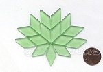 Cultured Sea Glass Cabachons and Art Tiles Diamond Puffed <b>25x12mm</b> 23-Peridot per <b>15-pc-bag</b>