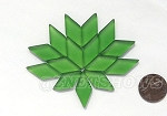 Cultured Sea Glass Cabachons and Art Tiles Diamond Puffed <b>25x12mm</b> 25-Shamrock per <b>15-pc-bag</b>