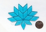 Cultured Sea Glass Cabachons and Art Tiles Diamond Puffed <b>25x12mm</b> 30-Pacific Blue per <b>15-pc-bag</b>