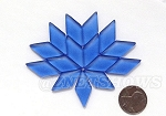 Cultured Sea Glass Cabachons and Art Tiles Diamond Puffed <b>25x12mm</b> 31-Light Sapphire per <b>15-pc-bag</b>