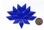 Cultured Sea Glass Cabachons and Art Tiles Diamond Puffed <b>25x12mm</b> 33-Royal Blue per <b>15-pc-bag</b>