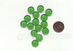 Cultured Sea Glass Cabachons and Art Tiles Coin Puffed <b>12mm</b> 25-Shamrock per <b>15-pc-bag</b>